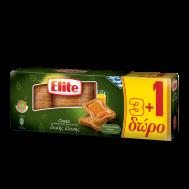 Elite Φρυγανιές  Ολικής Άλεσης Λιγότερο Αλάτι 360 gr 3+1 Δώρο