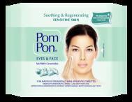 Pom Pon Υγρά Μαντηλάκια Ντεμακιγιάζ για Μάτια και Πρόσωπο Sensitive Skin 20 Τεμάχια + 20 Δώρο