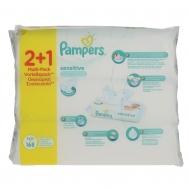 Pampers Sensitive Μωρομάντηλα 56 Τεμάχια 2+1 Δώρο