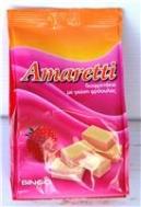 Amaretti Γκοφρέτα Φράουλα Σακούλα 135 gr