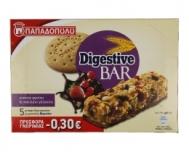 Παπαδοπούλου Digestive Bar με Κόκκινα Φρούτα & Σοκολάτα 140 gr