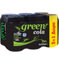 Green Cola 330 ml 5+1 Δώρο
