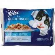 Felix Γατοτροφή  Snack  Σολωμός και Τόνος 400 gr
