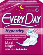 Everyday Hyperday Ultra Maxi Night  Σερβιέτες 10 Τεμάχια
