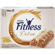 Nestle Fitness Delice με Λευκή Σοκολάτα Mπάρες Δημητριακών 6 x 22.5 gr