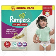 Pampers Premium Protection Active Fit Nuppy Pants No 5 54 Τεμαχια