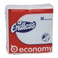Endless Economy  Χαρτοπετσέτες Λευκές 50 Τεμάχια