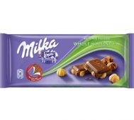 Milka Σοκολάτα Whole Hazalnuts 100 gr