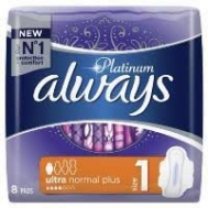 Always Platinum Ultra Normal Plus Σερβιέτες 8 Τεμάχια