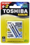 Toshiba μπαταρίες Alcaline AAA  4 +2 τεμάχια