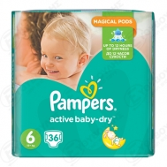 Pampers Active  Baby Dry  No  6  36 Τεμαχια