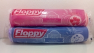 Floppy Σακούλες Απορριμμάτων  με Κορδόνι  52x75 Strawbberry  2 X 10 Τεμάχια + Δώρο μικροί σάκοι απορριμάτων
