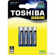 Toshiba μπαταρίες Alcaline AAA  4 τεμάχια