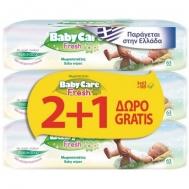 Babycare Fresh με Απαλή Σύνθεση Φρεσκάδας Μωρομάντηλα 3x69 Τεμάχια
