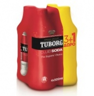 Tuborg Club Soda 500 ml 3+1 Δώρο