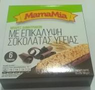 MamaMia Μπάρες με επικάλυψη Σοκολάτα Υγείας 6Χ 25 gr