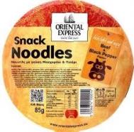 Oriental Express Noodles Μοσχαράκι και Μαύρο Πιπέρι 85 gr