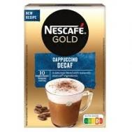 Nescafe Gold Cappuccino Στιγμιαίο Ρόφημα Χωρίς Καφεΐνη 10x12,5 gr