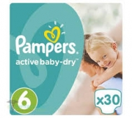 Pampers Active  Baby Dry  No  6  30 Τεμαχια