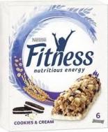 Nestle Fitness Mπάρες Δημητριακών Cookies & Cream  141 gr