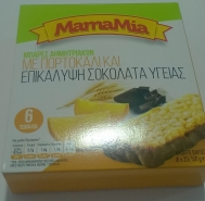 MamaMia Μπάρες με Πορτοκάλι και Επικάλυψη Σοκολάτας Υγείας 6x25  gr