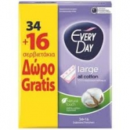 Everyday All Cotton Large Σερβιετάκια 34 Τεμάχια + 16 Δώρο