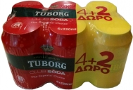 Tuborg Soda 330 ml 5+1 Δώρο