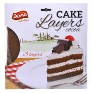 Doma Cakes Layer Βάση για Τούρτα με Γευση Κακάο 400 gr