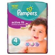 Pampers Active Fit 4   8-16 κιλά  43 Τεμάχια
