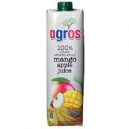 Agros Φυσικός Χυμός Μάνγκο - Μήλο 1 lt