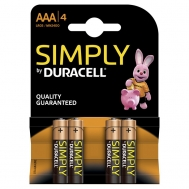 Duracell  Μπαταρίες Απλές  ΑΑΑ 4 Τεμάχια
