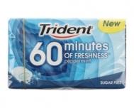 Trident 60 Minutes Μέντα Χωρίς Ζάχαρη 20 gr