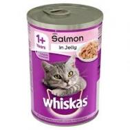 Whiskas Κονσέρβα  Γάτας  Ζελέ Σολωμού 390 gr