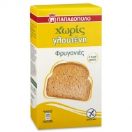 Παπαδοπούλου Φρυγανιές Χωρίς Γλουτένη 165 gr