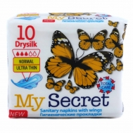 My Secret Drysilk Normal Ultra Thin Σερβιέτες 10 Τεμάχια