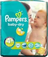 Pampers Baby Dry Extra Large No4+  30 Τεμαχια