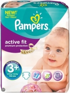 Pampers Active Fit 3+ 13-22 κιλά  45  Τεμάχια