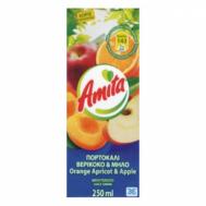 Amita Πορτοκάλι Βερίκοκο Μήλο 250 ml