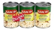 Baron Μανιτάρια Τεμαχισμένα 3x370 gr 2+1 Δώρο