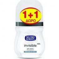 Neutro Roberts Roll On  Invisible 50 ml  1+1 Δώρο