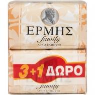 Ερμής  Family Σαπούνι  3+1 125 gr