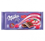 Milka Σοκολάτα Raspberry Cream 100gr