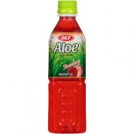 OKF Aloe Vera Drink Strawberry 500 ml