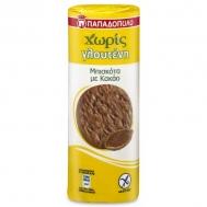 Παπαδοπούλου Μπισκότα με Κακάο Χωρίς Γλουτένη 200 gr