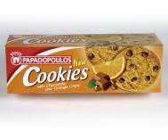 Παπαδοπούλου Μπισκότα Cookies με Κομμάτια Πορτοκάλι 180 gr