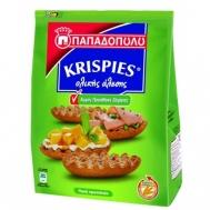 Παπαδοπούλου Krispies Ολικής Άλεσης Χωρίς Ζάχαρη 200 gr