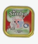 Simba Γατοτροφή Πατέ Βοδινό 100 gr