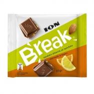 ΙΟΝ Break Σοκολάτα Γάλακτος με Αμύγδαλα,Πορτοκάλι και Λεμόνι 85gr
