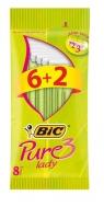 Bic Pure 3 Lady Ξυραφάκια 6+ 2 Τεμάχια