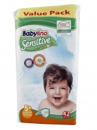 Babylino Sensitive Πάνες Νο 5+  Extra Large 42 Τεμάχια